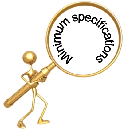 Minimum Specifications