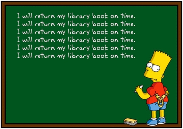 Return of library books